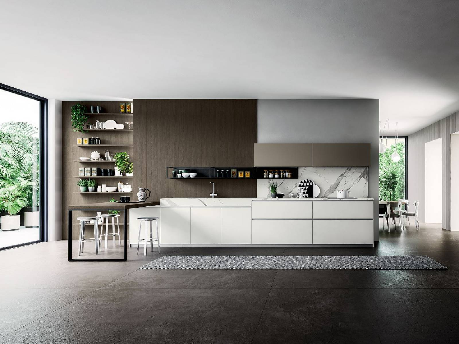 cuisine italienne verre tremp mat ou brillant design cuisines. Black Bedroom Furniture Sets. Home Design Ideas