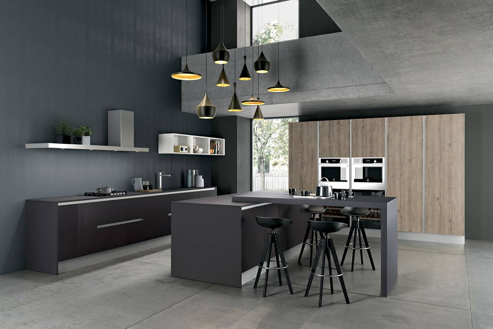 cuisine sur mesure avec plan de travail stratifi pierre design cuisines. Black Bedroom Furniture Sets. Home Design Ideas