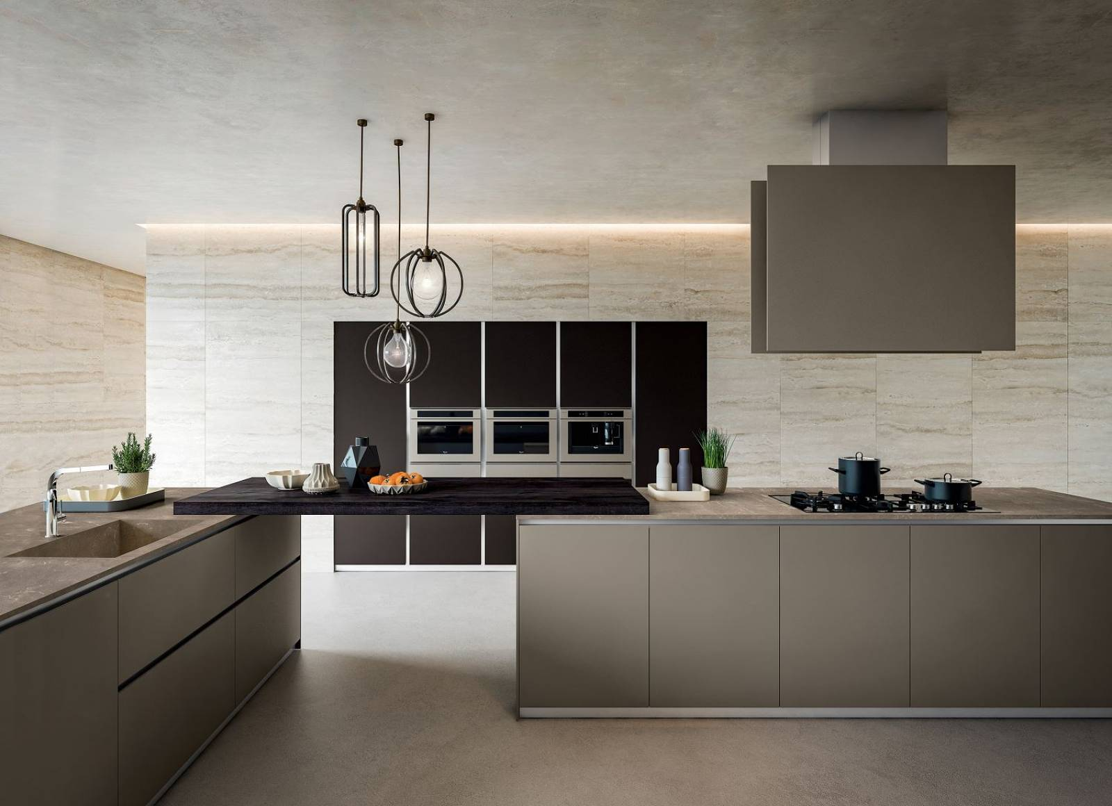 Cuisine moderne pur e laqu e blanc design cuisines for Cuisine moderne laquee
